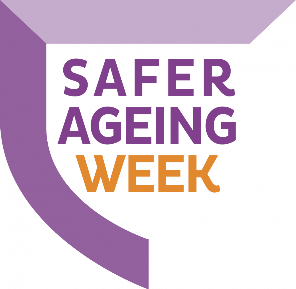 Safer Ageing Week logo Hourglass