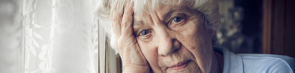 older white lady sad